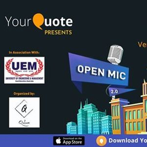 YourQuote Open Mic UEM Jaipur 2.0