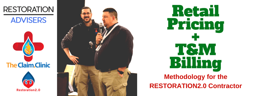 Retail Pricing and T&M Billing for Restoration Contractors
