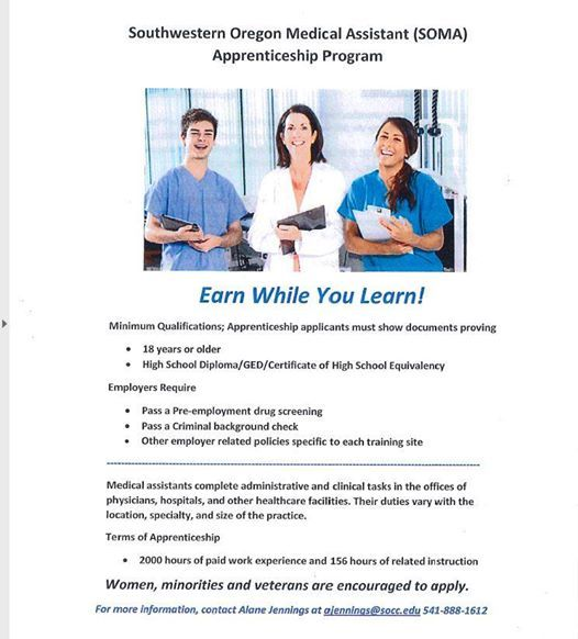 Southwestern Oregon Medical Assistant Apprenticeship Program At