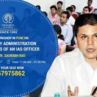 Free Seminar in Pune on Civil Services by Mr. Saurabh Rao