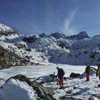 Raquettes  neige lacs glacs de nouvielle