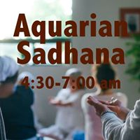 Aquarian Sadhana with Live Music - Free Event
