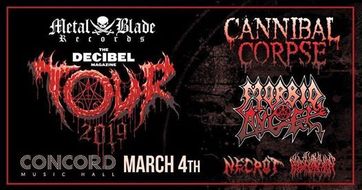 Cannibal Corpse at Concord Music Hall