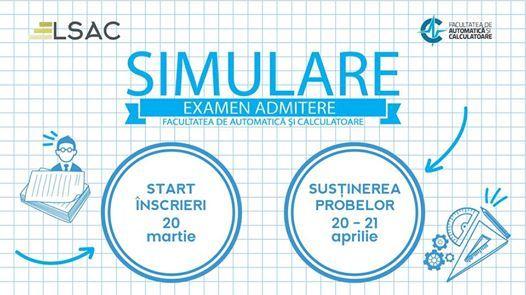 Simulare examen admitere ACS 2019