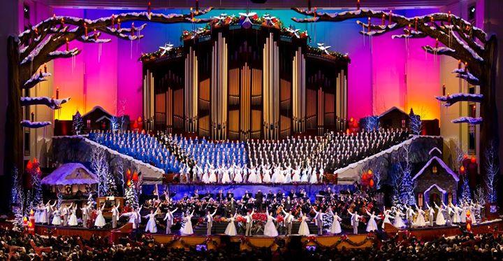 the mormon tabernacle choir christmas concert 2017 at temple square salt lake city