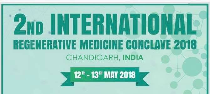 Image result for 2nd International Regenerative Medicine Conclave , Chandigarh, India