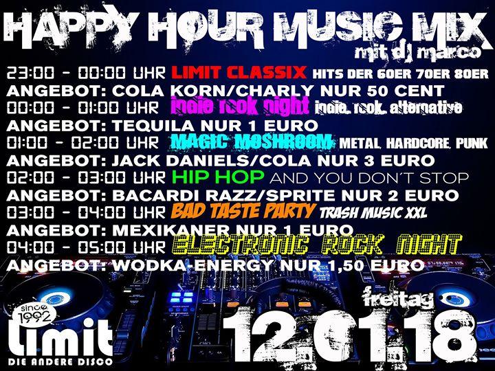 Happy Hour Music Mix (6 Partys in 1 Nacht) mit DJ Marco at Diskothek ...