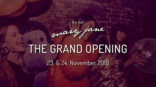 The Grand Opening Weekend Welcome to the club