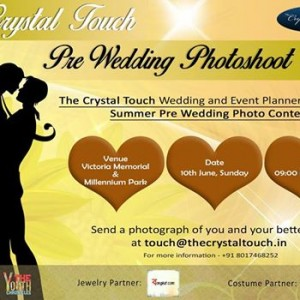 The Crystal Touch Pre Wedding Photo-shoot contest