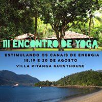 III Encontro de Yoga - Estimulando os Canais de Energia