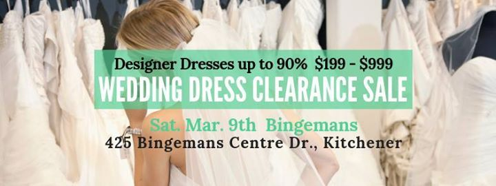 Kitchener Pop Up Wedding Dress Sale