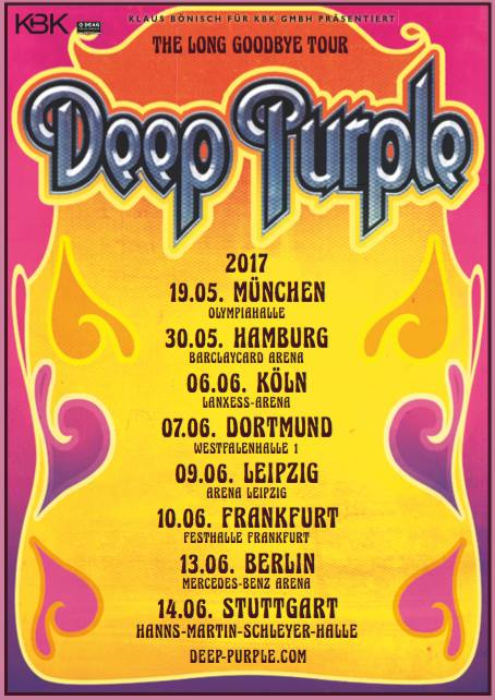 Deep Purple The Long Goodbye Tour
