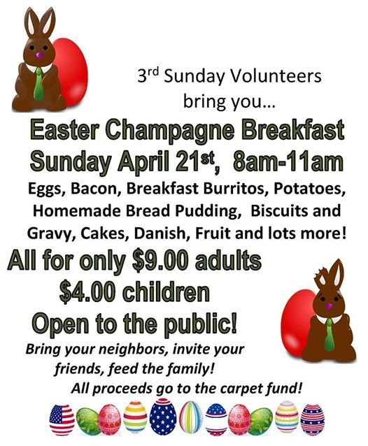 Easter Sunday Brunch from 800a to 1100a