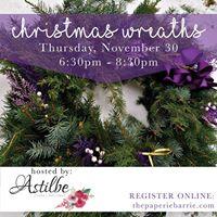 Workshop Christmas Wreaths