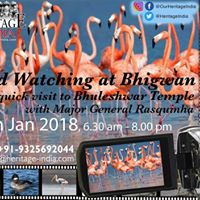 Bird Watching at Bhigwan with Maj. Gen. Rasquinha