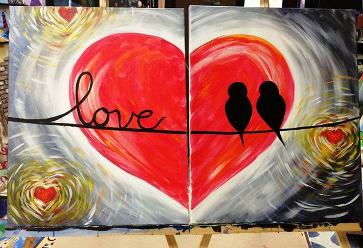 Couples paint night best friend solo paint night