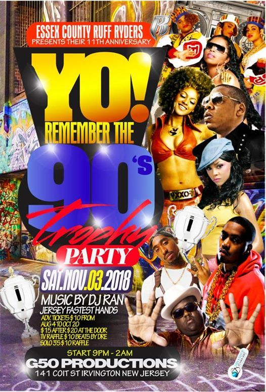 Essex County Ruff Ryders Yo remember the 90s trophy party at