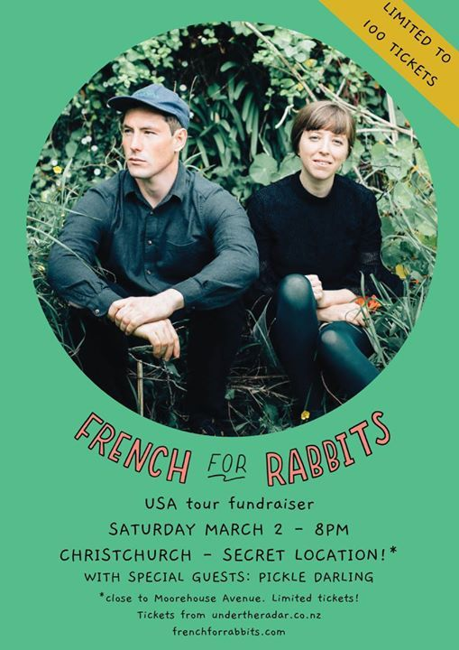 French for Rabbits USA tour fundraiser w Pickle Darling