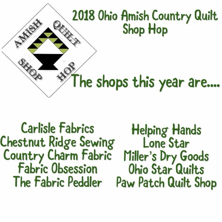2018 Amish Country Quilt Shop Hop At Chestnut Ridge Sewing Millersburg