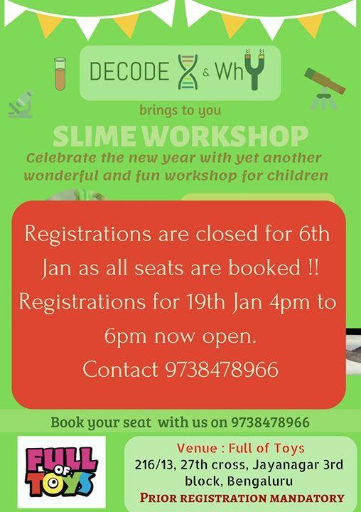 DIY Slime Workshop