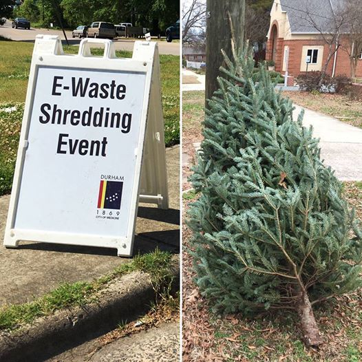 E Waste Recycling Paper Shredding Live Tree Drop Off At Durham