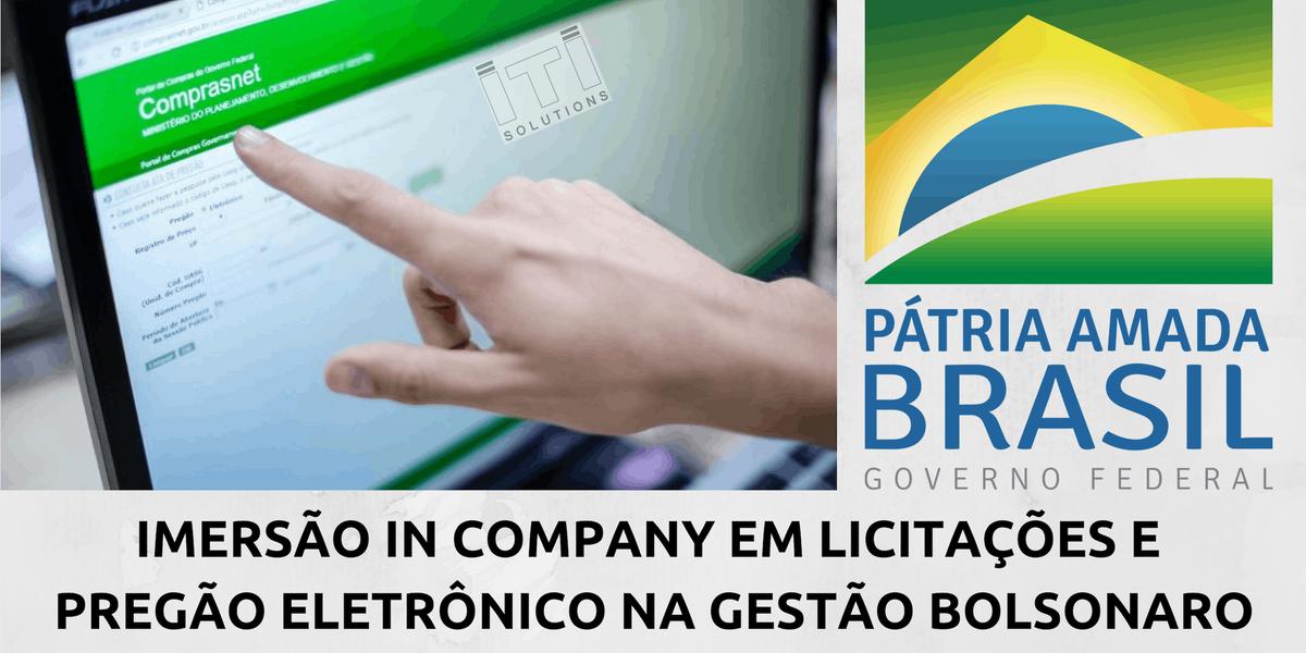 IMERSO IN COMPANY EM LICITAES E PREGO ELETRNICO NA GESTO BOLSONARO