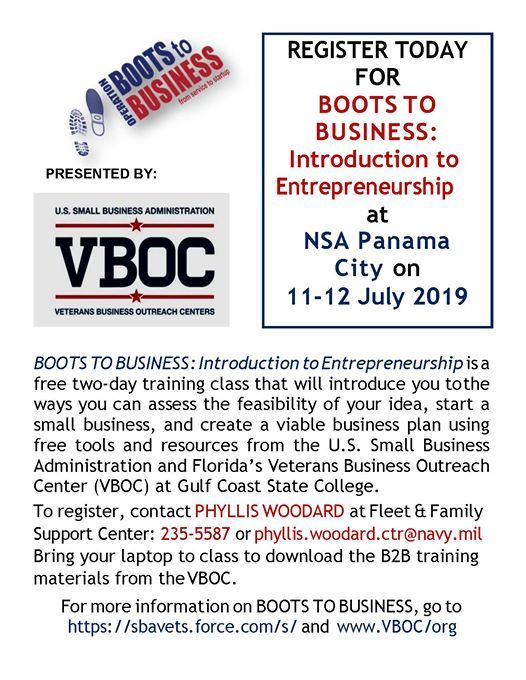 Boots to Business: Intro  to Entrepreneurship at FFSC Panama