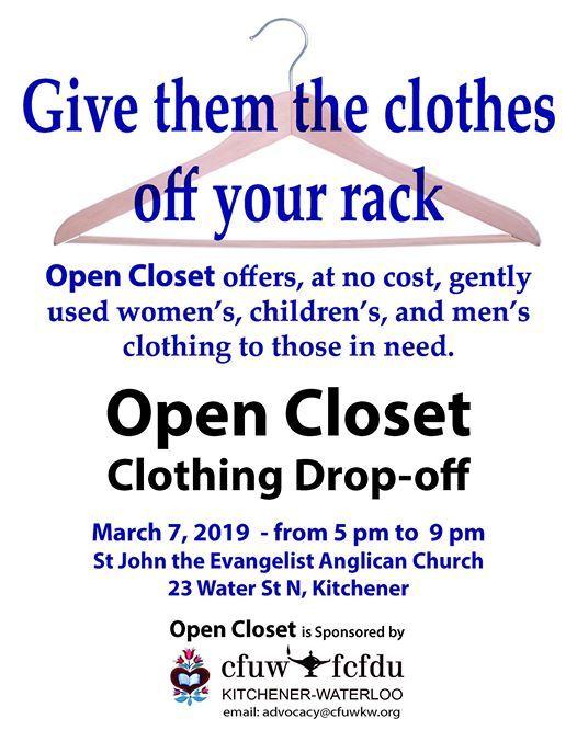 Open Closet Clothing Drop-off