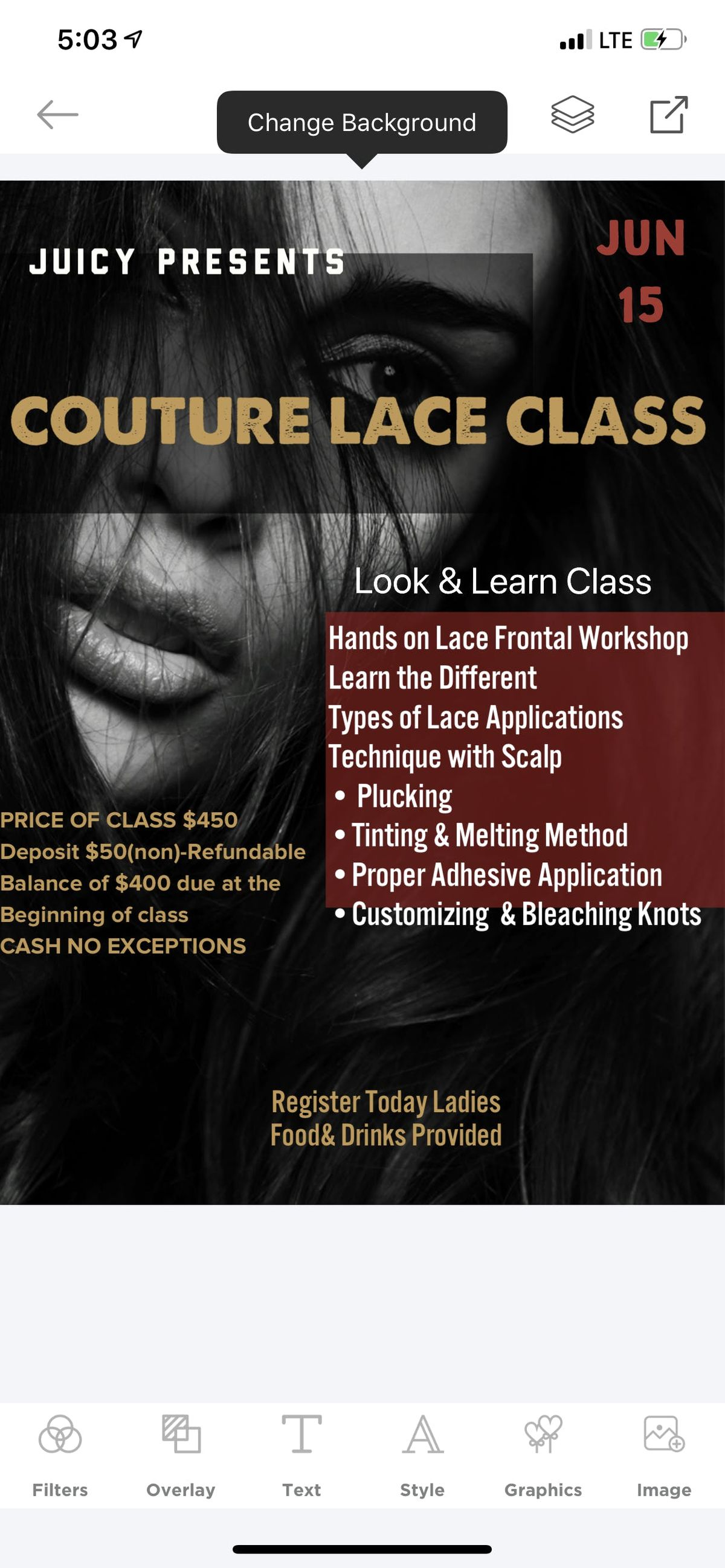 Couture Lace Class