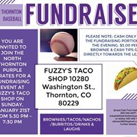 Fundraiser for Brysons Baseball Team the Purple Pirates
