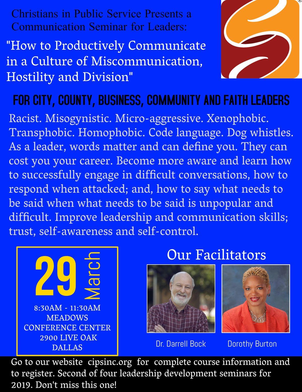 Communication Seminar for Leaders