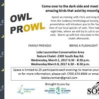 Evening Owl Prowls at the Lake Laurentian Conservation Area