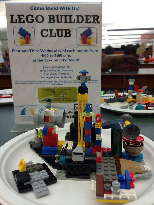 LEGO Builder Club at Serra Mesa-Kearny Mesa Library, San Diego