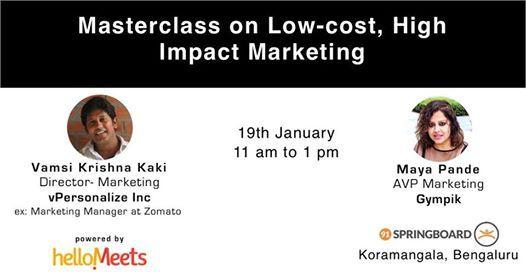 Masterclass on Low-cost High Impact Marketing