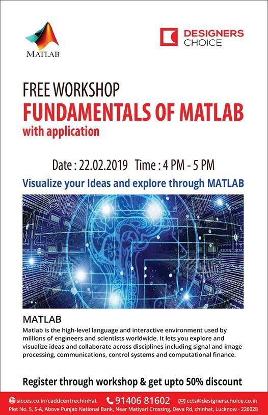 Hurry!! Free workshop on Fundamentals of Matlab with