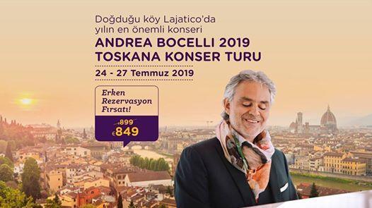 Andrea Bocelli 2019 Toskana Konser Turu