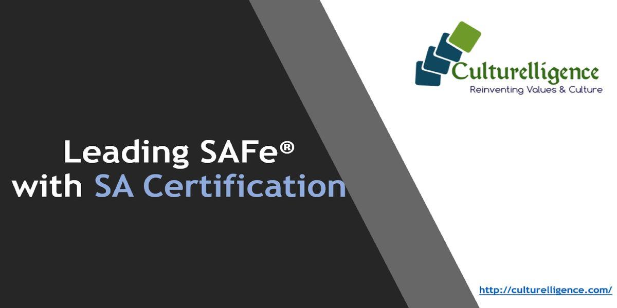 Leading Safe With Safe Agilist Sa Certification Charlotte Nc