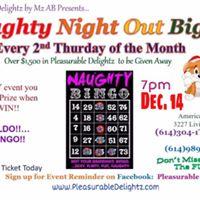 Naughty Night Out Big O Christmas BINGO