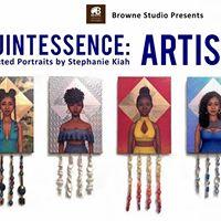 Artist Talk for Quintessence Selected Portraits by Stephanie Kiah Exhibit