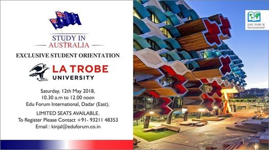 Study In Australia- La Trobe University at Edu Forum International