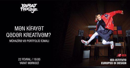 YARAT Freestyle IED-IstitutoEuropeo di Design  mhazir