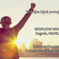 Besplatni seminar &quotOtkrijte klju promjene u sebi&quot