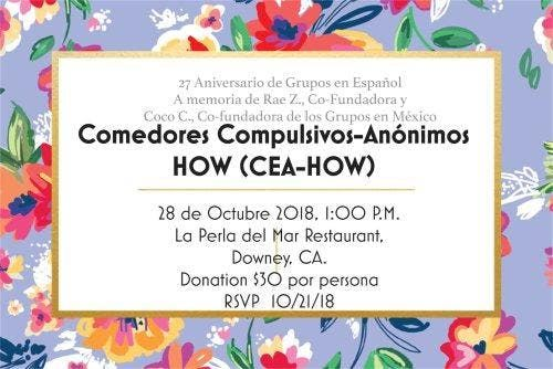 Comedores Compulsivos-Anonimos HOW (CEA-HOW) at La Perla Del Mar, Downey