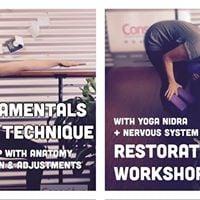 Yoga Technique Workshop  Restorative Yoga Workshop