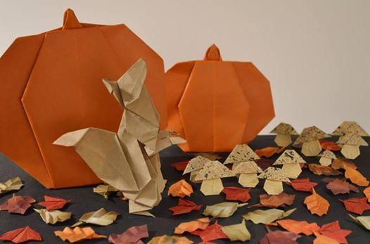 Pumpkin Patch Origami At Norfolk Botanical Garden Virginia