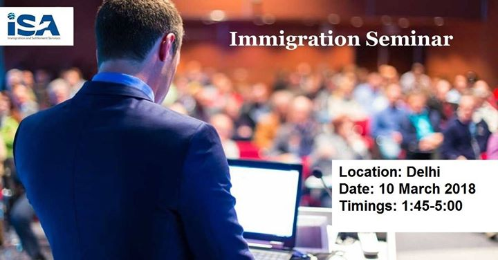 ISA Global immigration seminar in Delhi