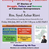Entrepreneuring Pakistan Book Launch at KG