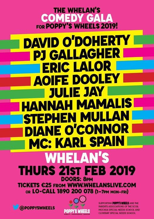 Poppys Wheels ft David ODoherty PJ Gallagher & more Whelans