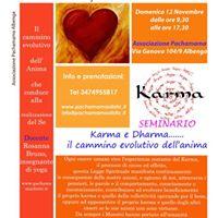 Seminario Karma e Dharma il cammino evolutivo dellanima