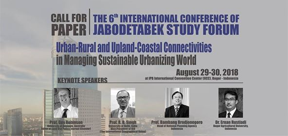 The 6th International Conference Jabodetabek Study Forum
